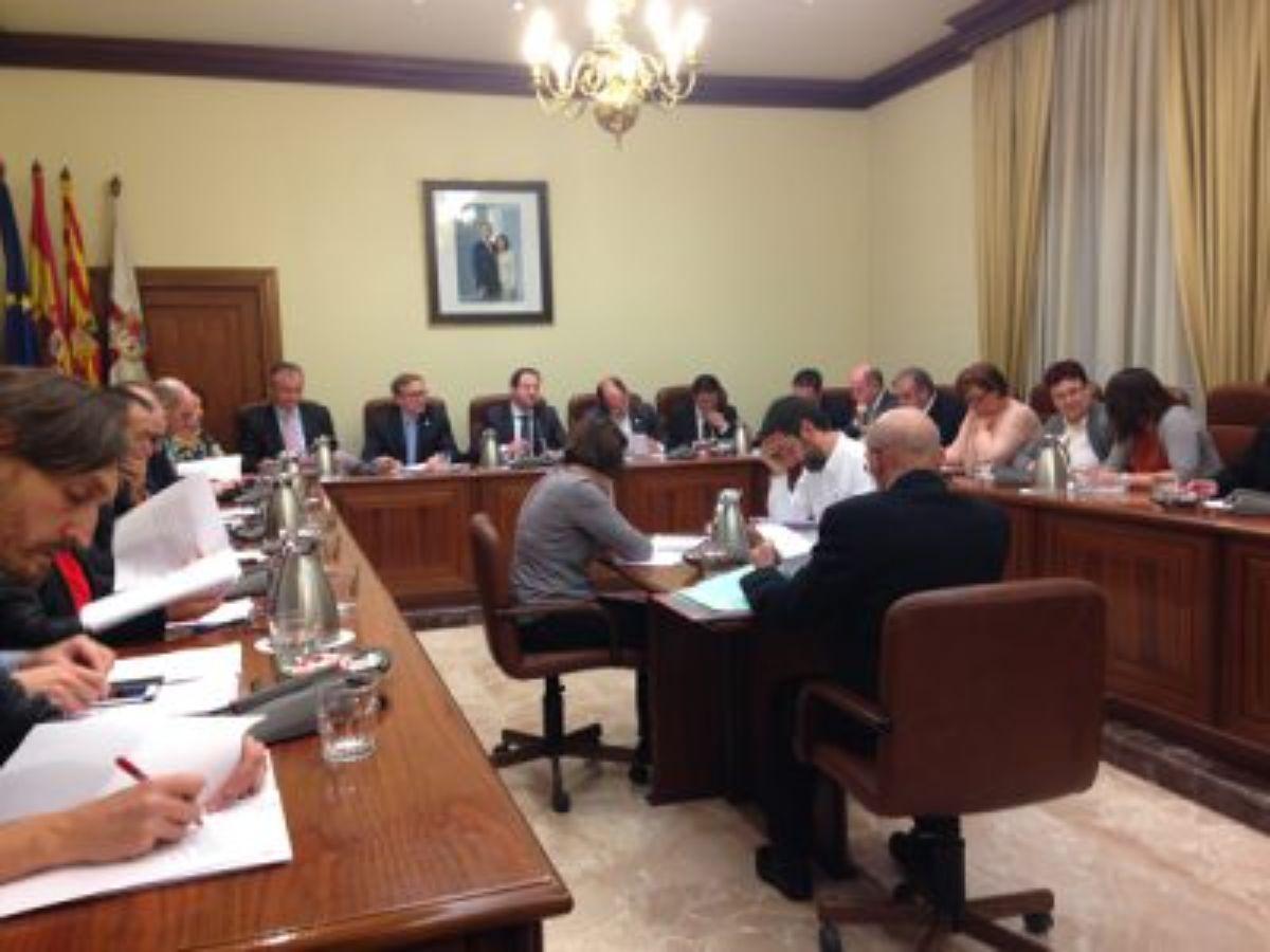 Pleno de la DPT en el que se aprobó la declaración institucional a favor del FITE