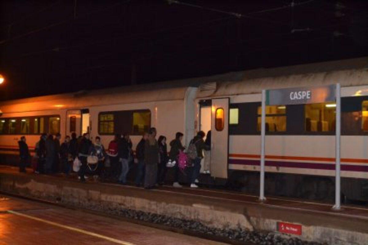 El tren matutino a Zaragoza es uno de los má concurridos