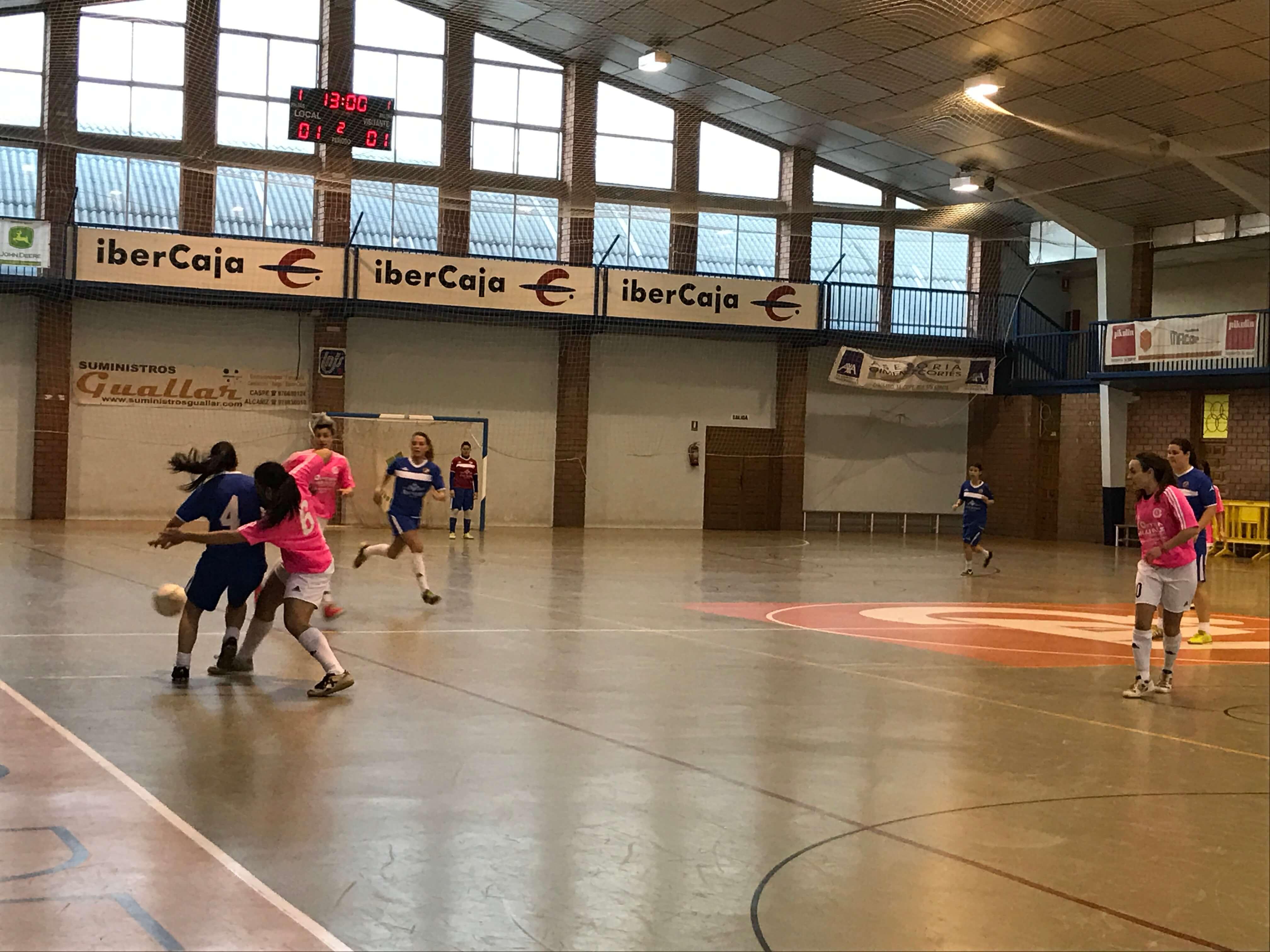 Partido de gran tensión entre el Polideportivo y el Alagón el sábado en Caspe.