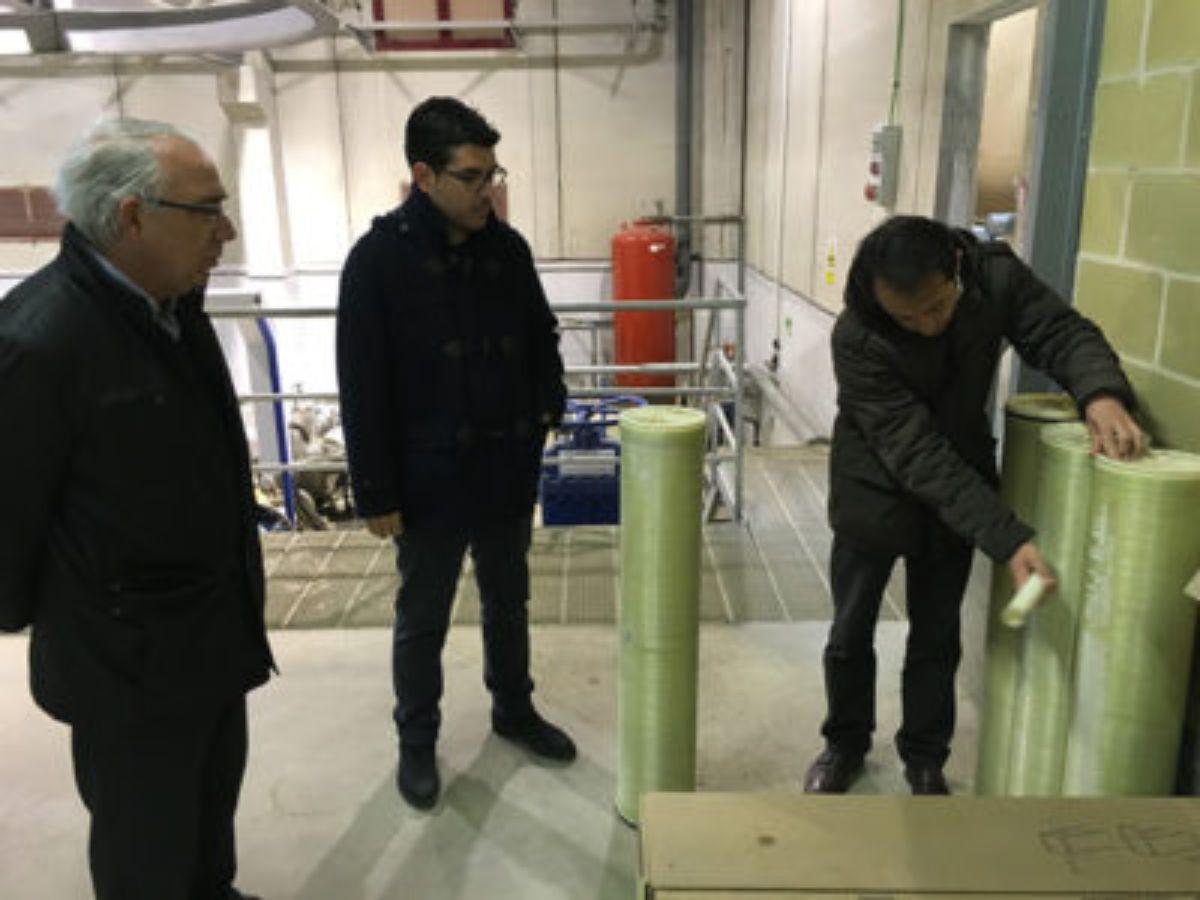 Miembros del ayuntamiento caspolino han viajado a otras localidades para conocer los sistemas de otras potabilizadoras