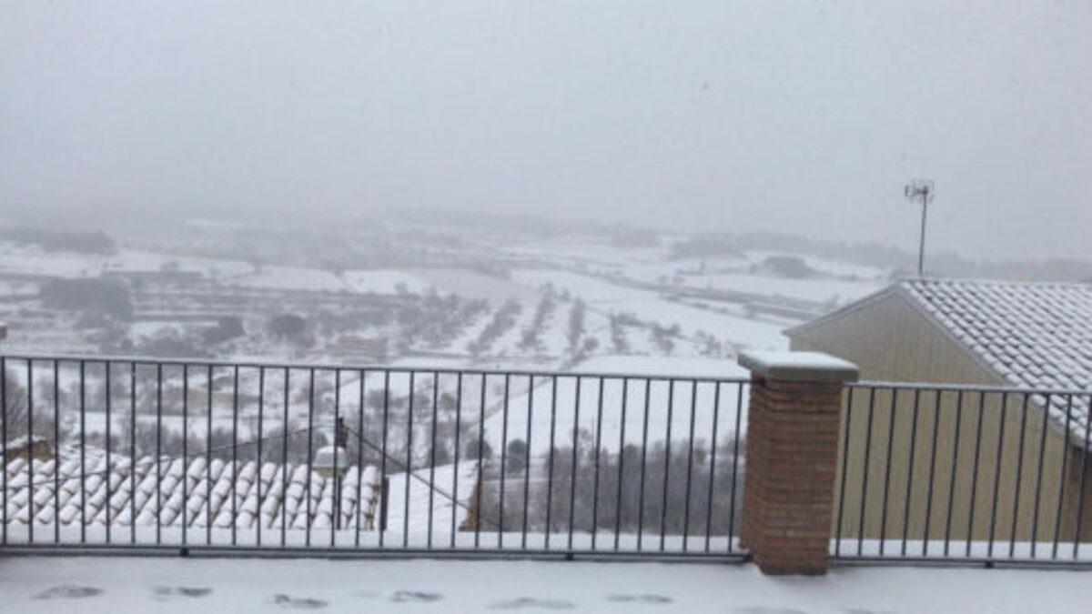 Nieve en Monroyo