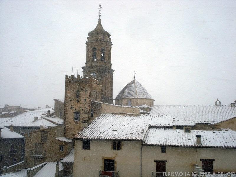 Nieve en La Iglesuela del Cid