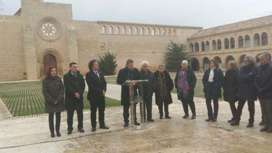 la visita institucional al monasterio de Rueda