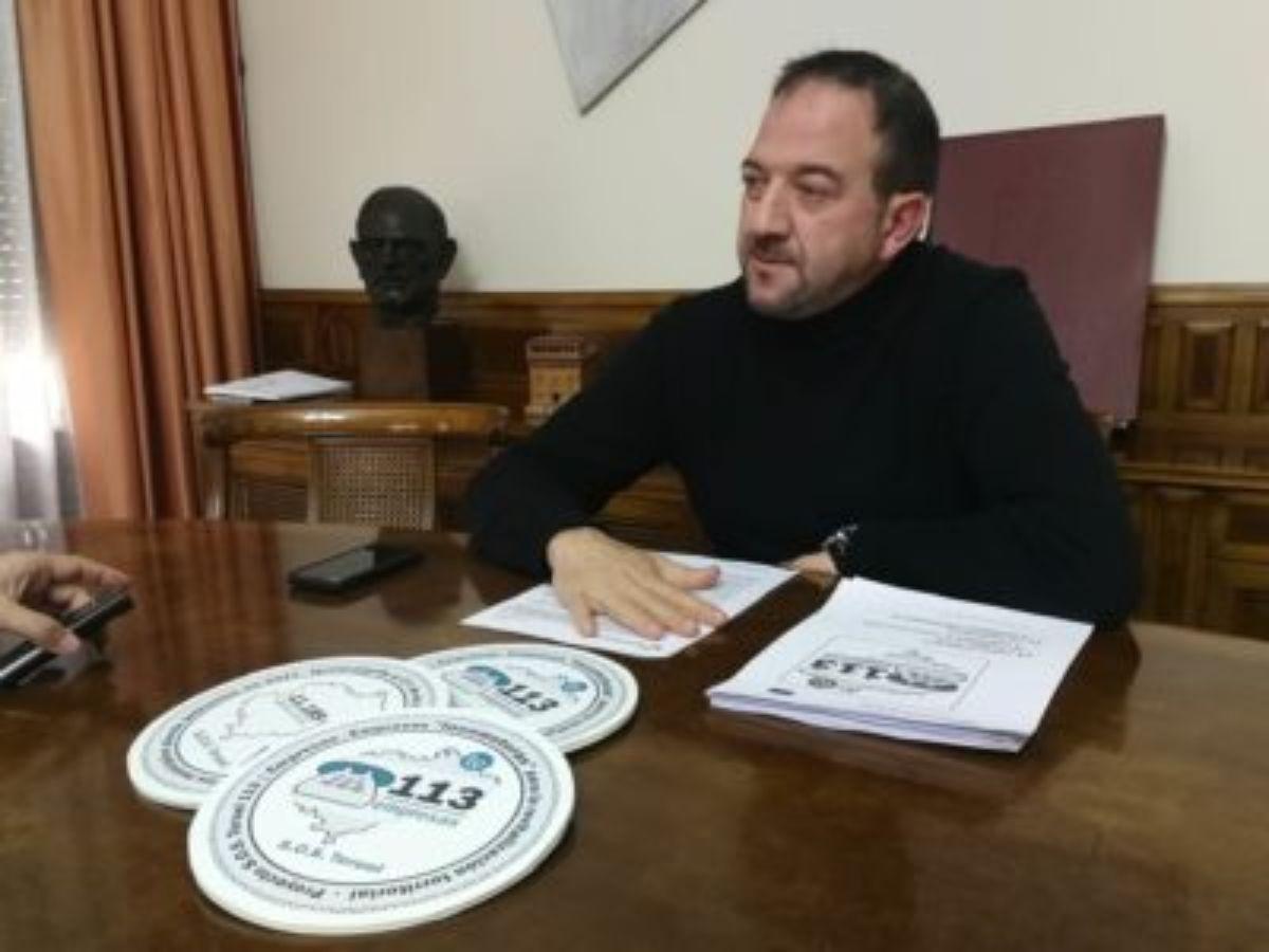 Ramón Millán, presidente de la DPT, en la presentación del proyecto '113: SOS Teruel'