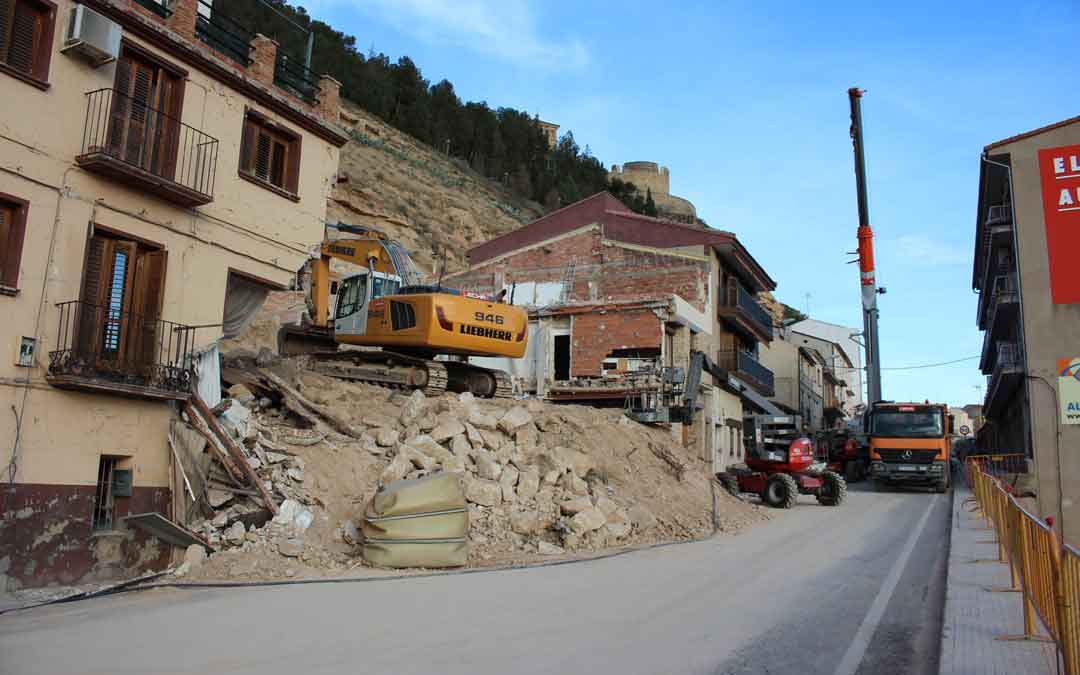 Foto de archivo del derrumbe del cerro Pui Pinos