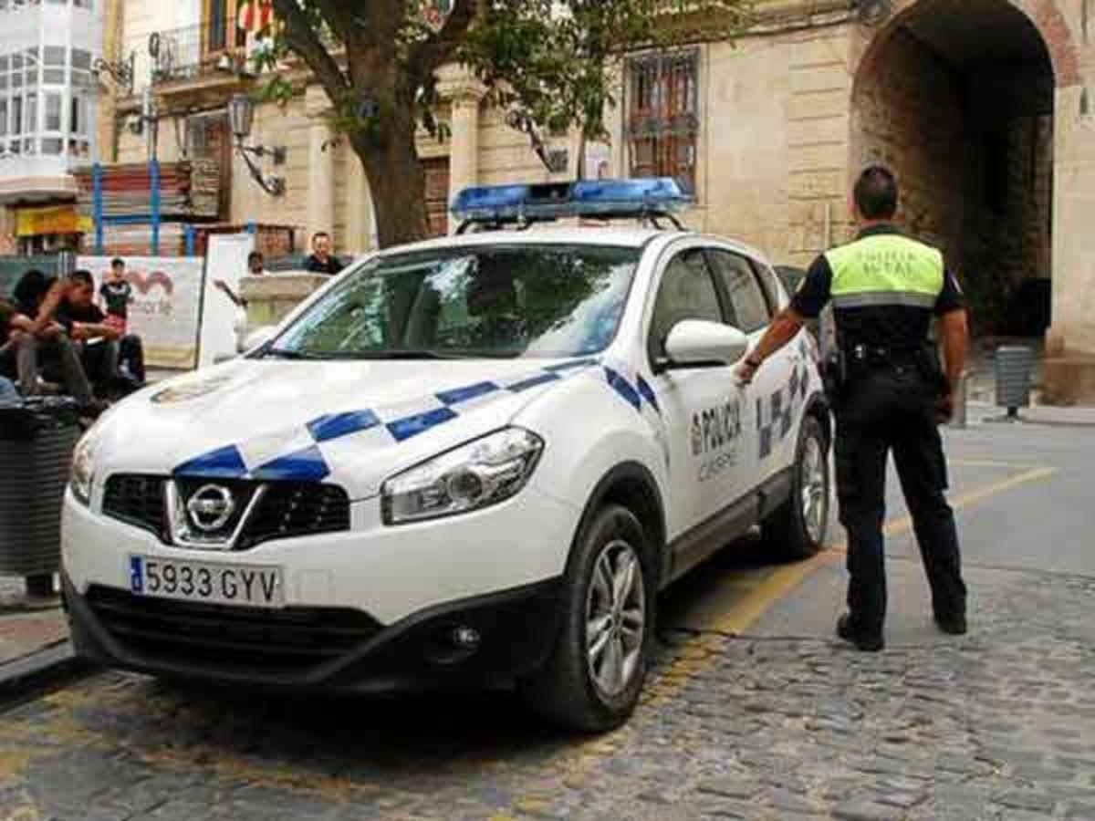 Imagen de archivo de la Policía Local de Caspe