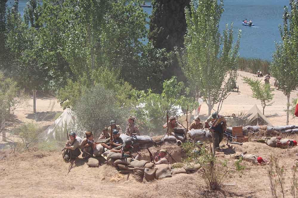 Recreación batalla del Ebro en Fayón