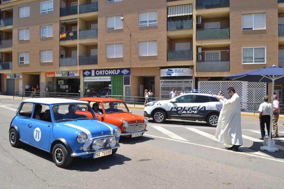 Bendición de vehículos en Caspe
