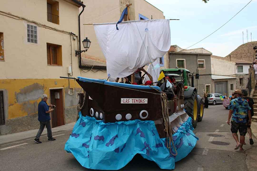 Carroza del barco pirata en Castelnou