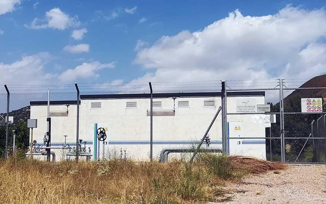Imagen del centro de distribución de gas de la localidad de Utrillas.