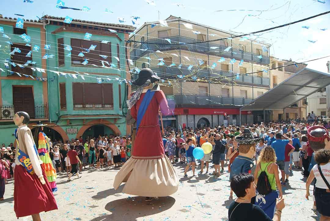 Chupinazo en La Puebla de Hijar