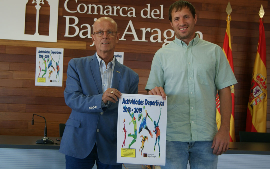 El presidente de la Comarca, Manuel Ponz, y el consejero de Deportes, Ángel Antolín, ayer presentando las actividades. B.S.