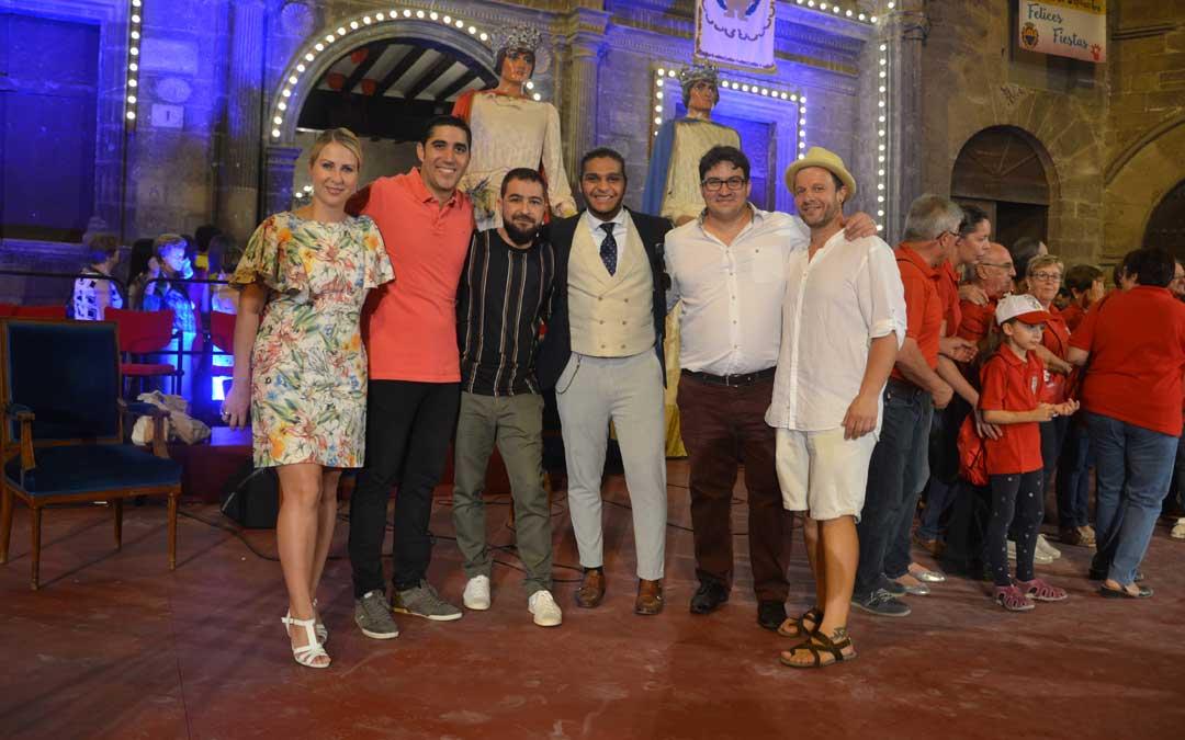 Placzkowska, Jariod, Caballero, El Chapi, Soriano y Lahoz, ya de calle después de la actuación