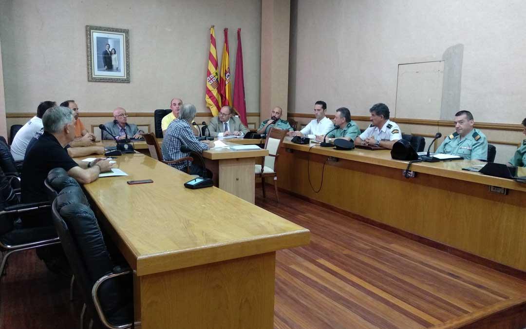 Los grupos técnicos han trabajado en el diseño de medidas y dispositivos de seguridad que se desplegarán en la ciudad de Alcañiz