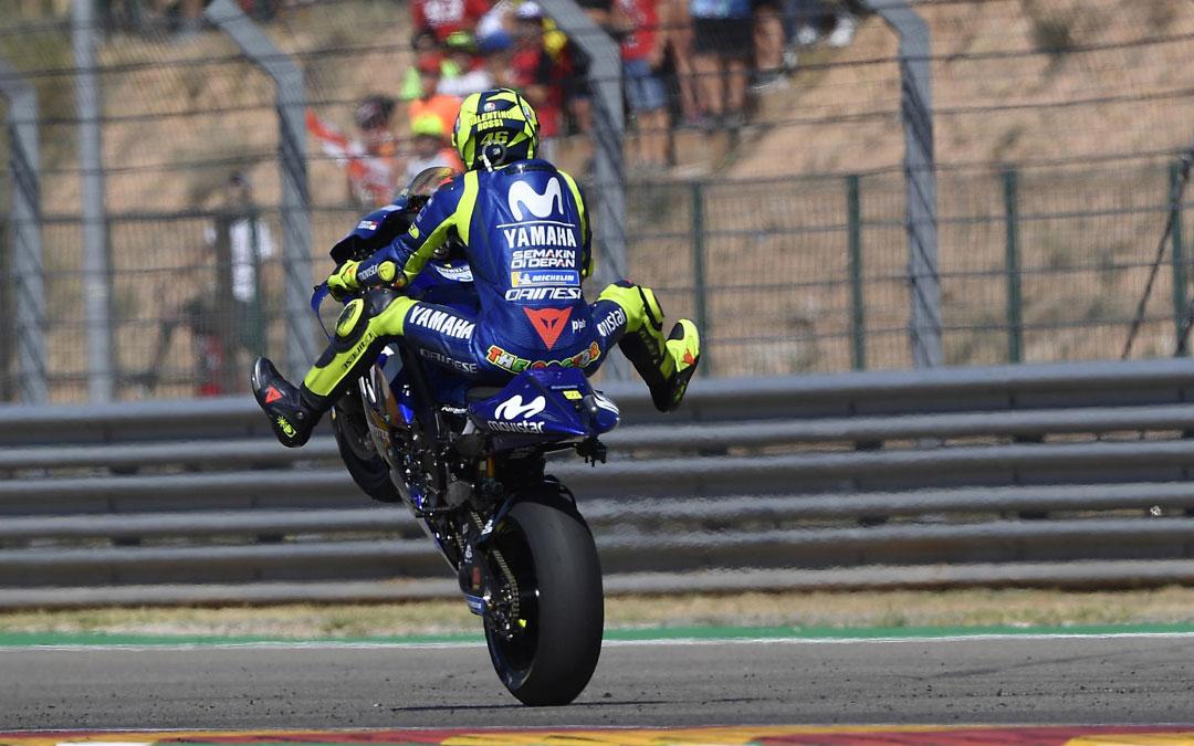 Rossi caballito Motorland Aragon