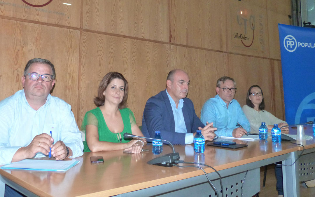 Ejecutiva del PP ayer en Andorra