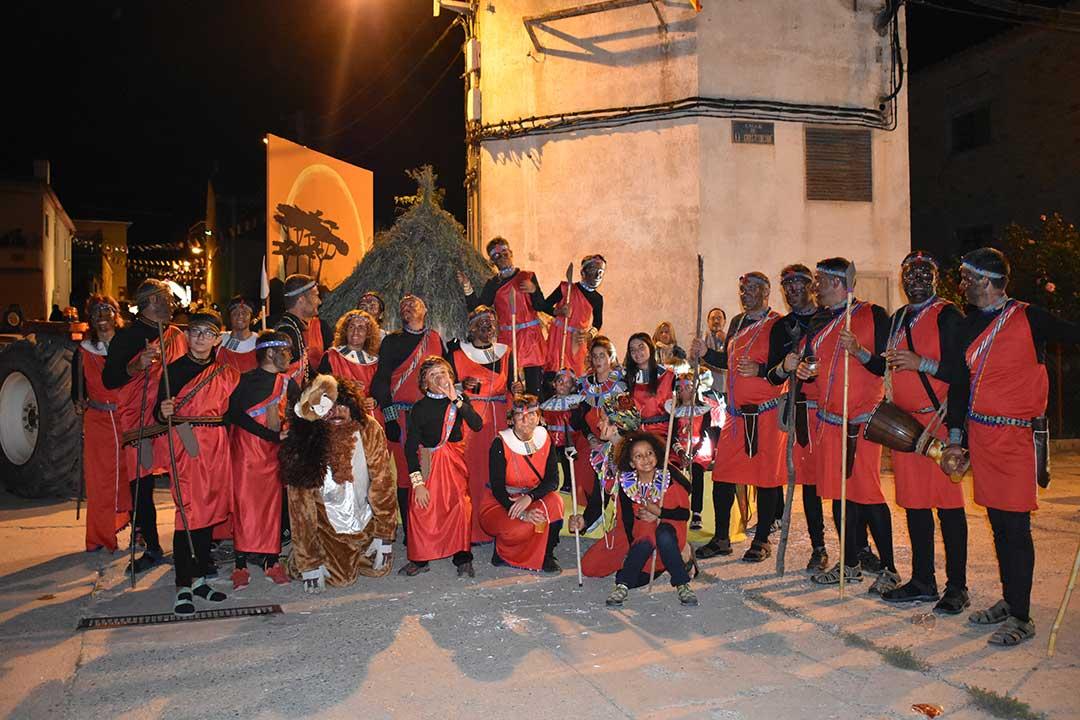 Presentación reinas y carrozas en Valjunquera