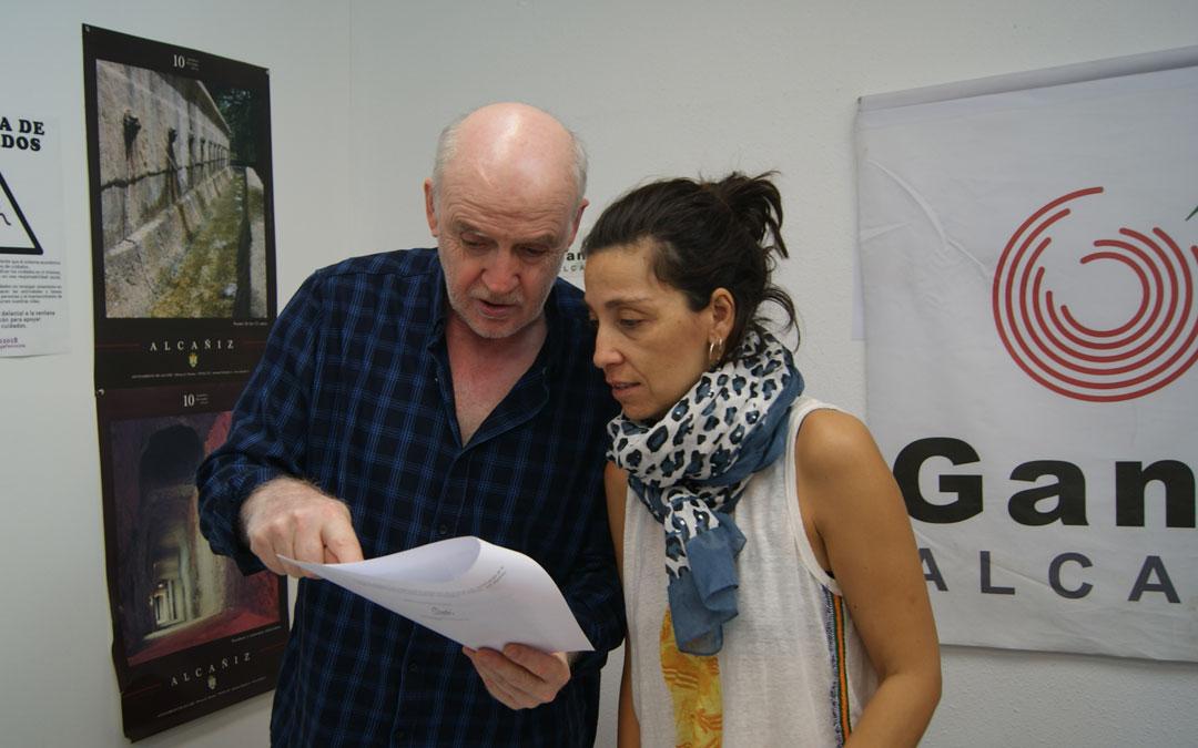 José Antonio Benavente y María Milian este martes durante la rueda de prensa.