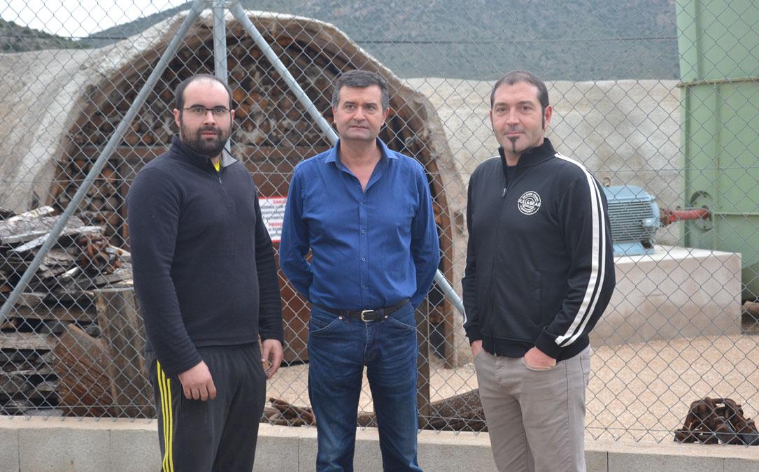 Álvaro, Joaquín y Sergio este viernes en Ariño