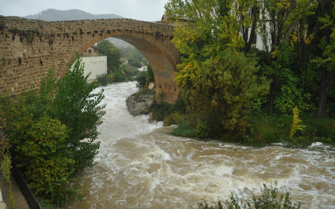 El río Matarraña en su nacimiento, en Beceite, registró precipitaciones de más de 160 litros por metro cuadrado