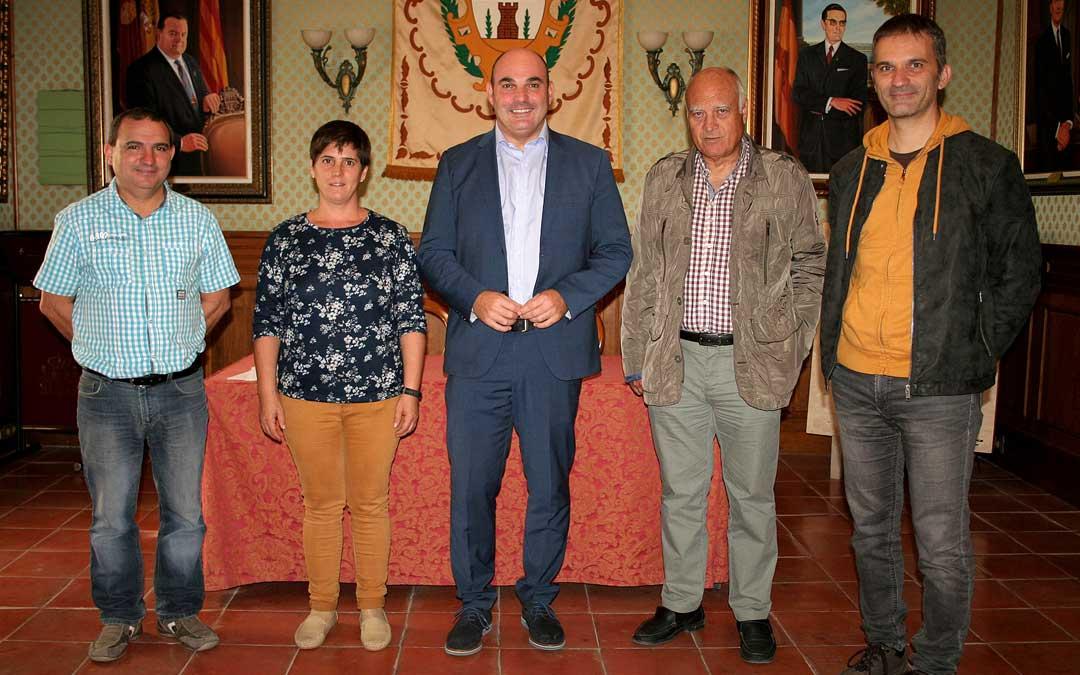De izqda. a dcha., Baquero, Blanco, Gracia, Domingo y Gil