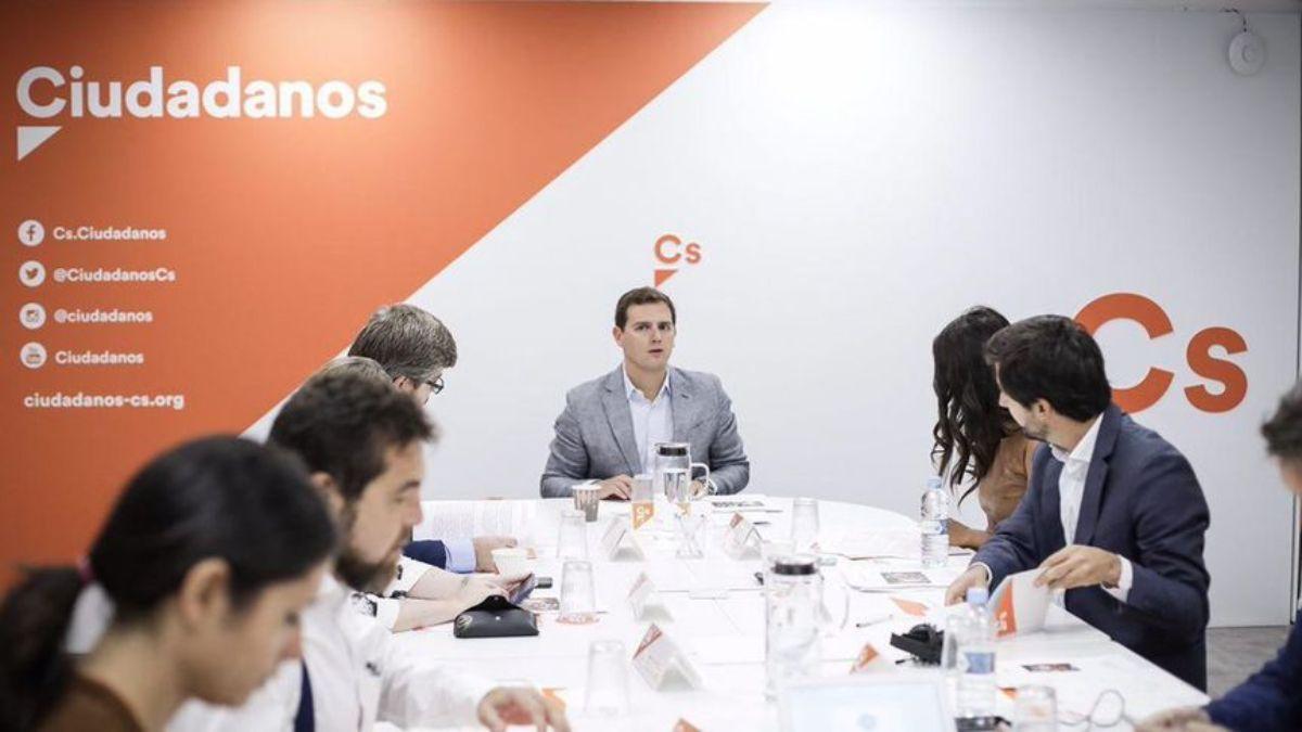 Ejecutiva de Ciudadanos en Madrid, ayer