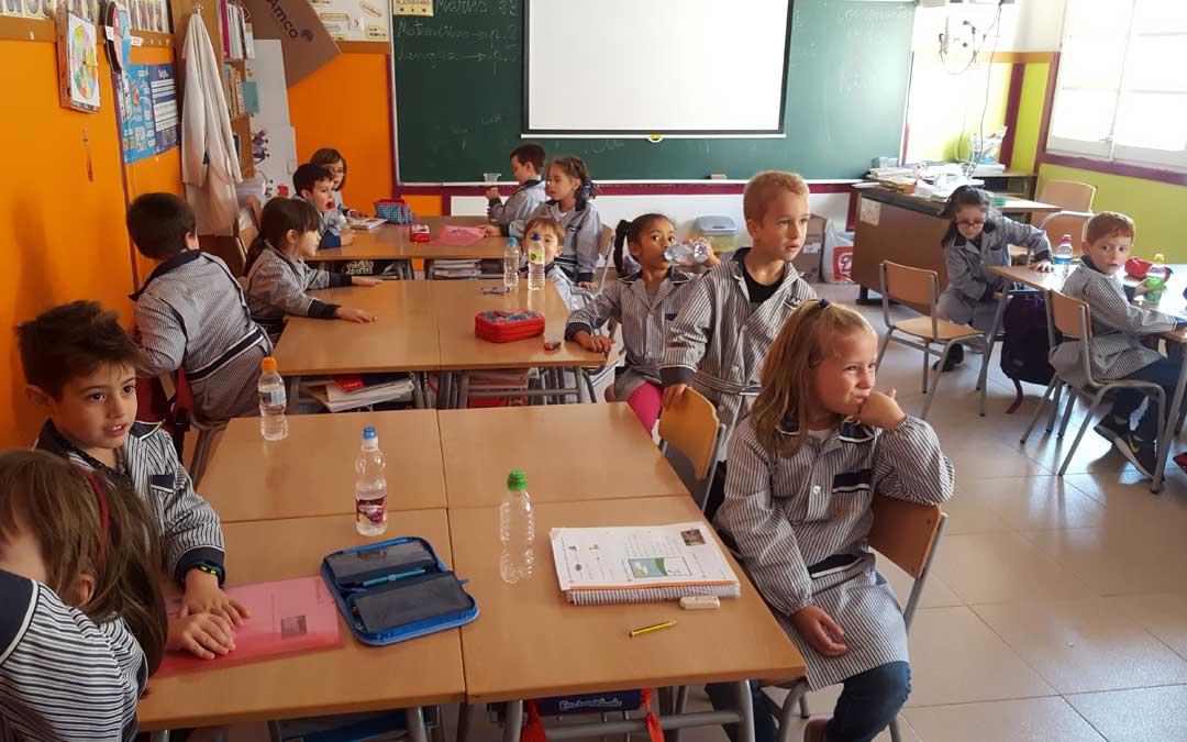 Foto de archivo de una clase de Escolapios este martes