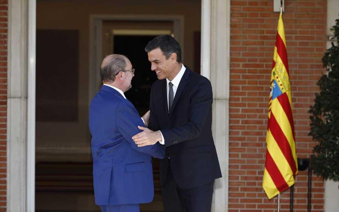 Los presidentes de Aragón y de España se reunieron este lunes en La Moncloa