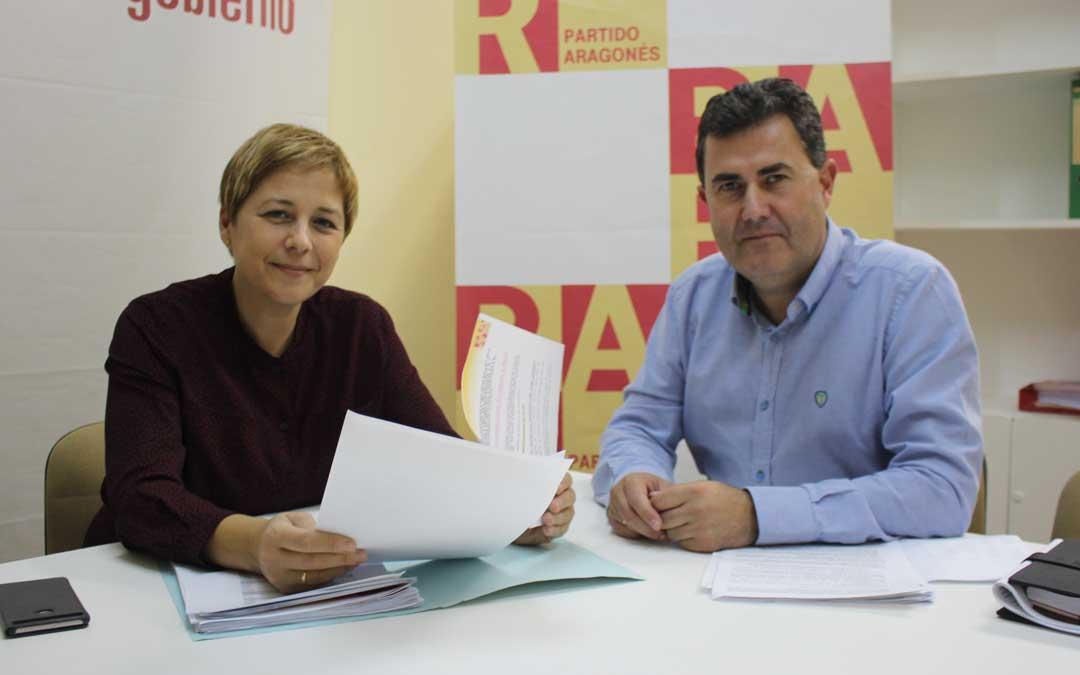 Los ediles Zapater y Orrios este miércoles en rueda de prensa sobre las ordenanzas