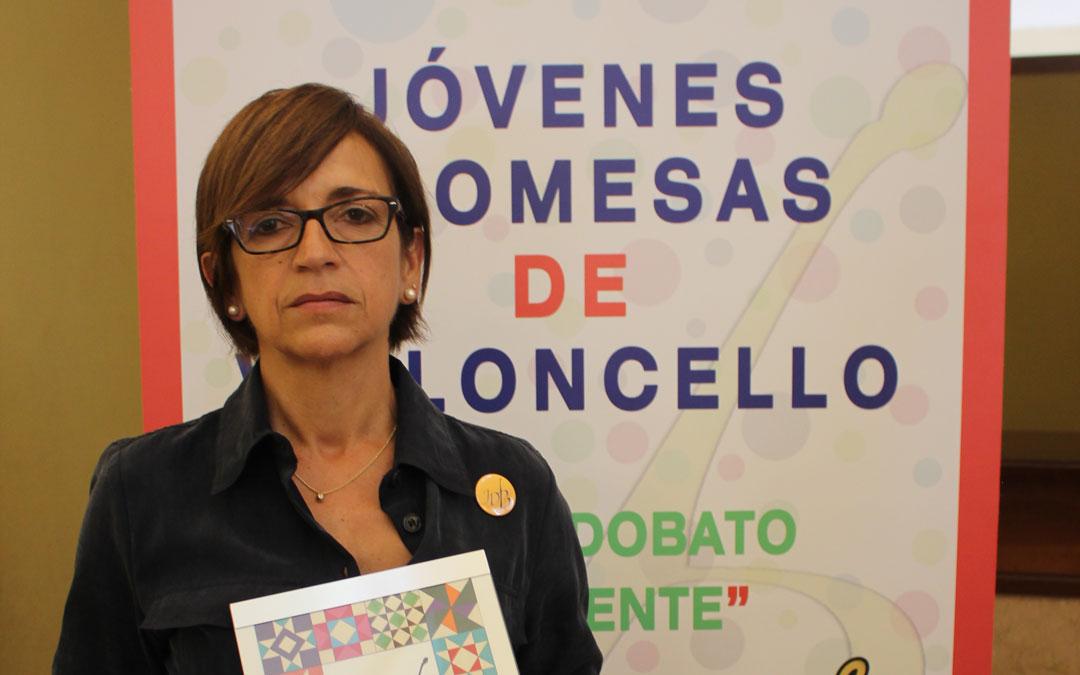 Paz Benavente este domingo en el teatro.