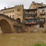 Río Matarraña a su paso por Valderrobres la mañana del viernes. J.L.