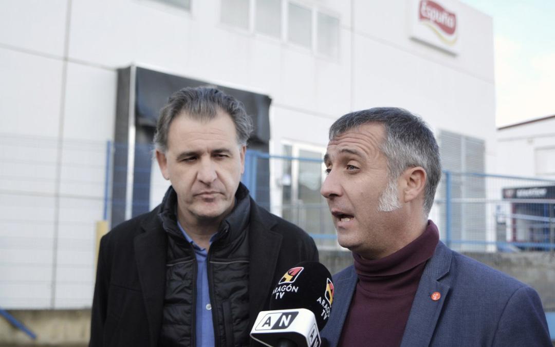 Foto de archivo del alcalde de Utrillas, Joaquín Moreno junto al secretario de Organización de C's, Ramiro Domínguez.