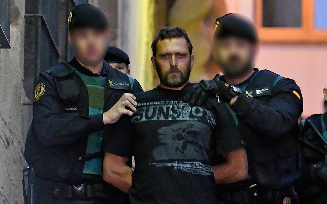 Igor el Ruso saliendo de los juzgados de Alcañiz el pasado 17 de diciembre de 2017