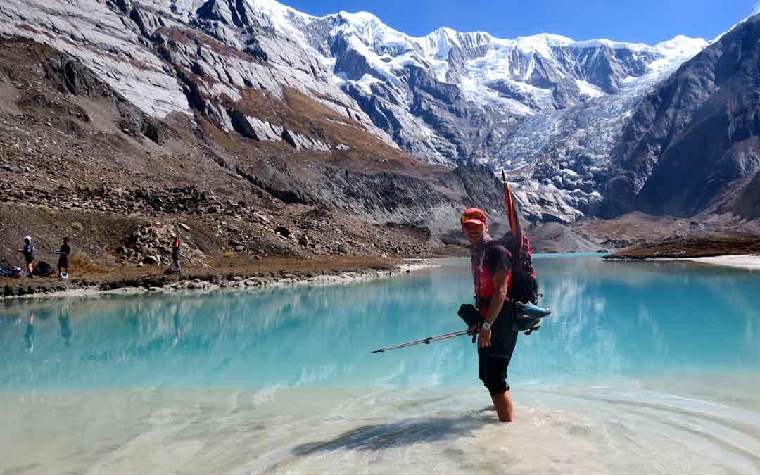 Curiosa imagen tomada muy cerca del campo base del Annapurna
