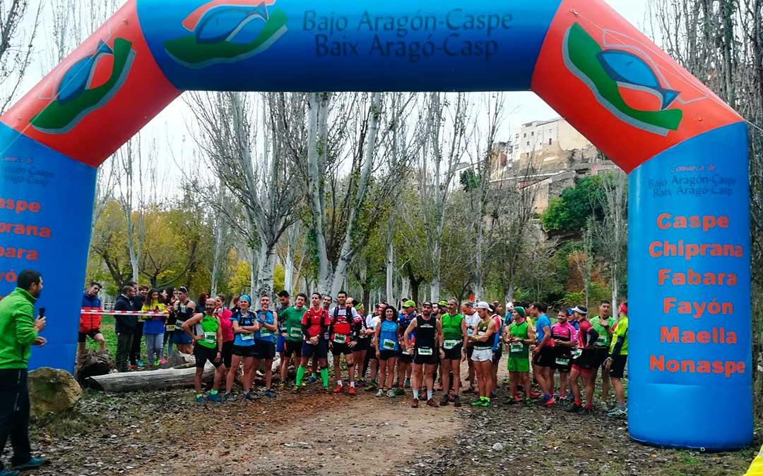 Salida de una de las pruebas de la primera edición,, en el parque Entrepuentes de Caspe. Foto: Carlos Gallego