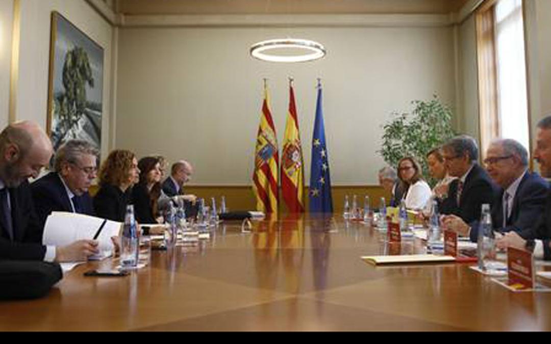 Reunión Bilateral celebrada en noviembre en Zaragoza en la que el Gobierno se comprometió con la elevación de aguas a Andorra