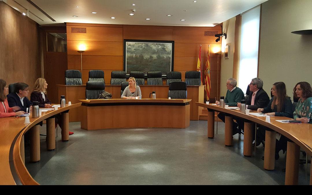 Reunión este martes en las Cortes de Aragón