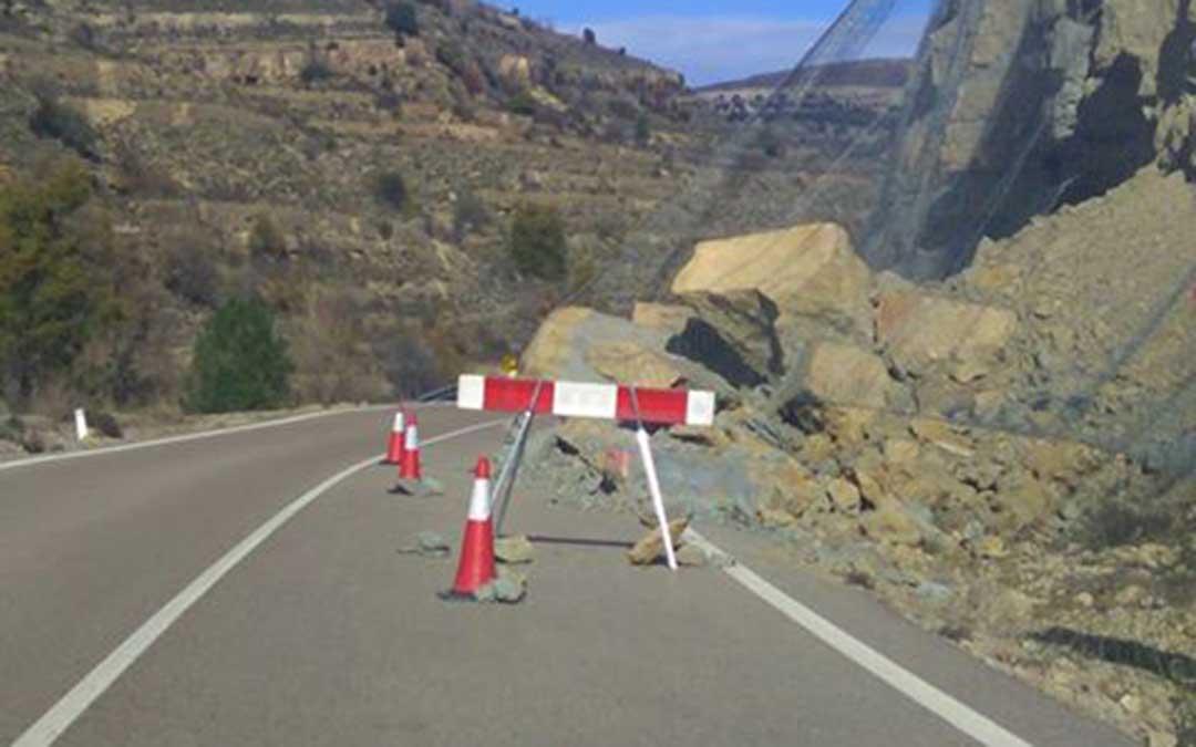 Desprendimiento carretera Cantavieja A226