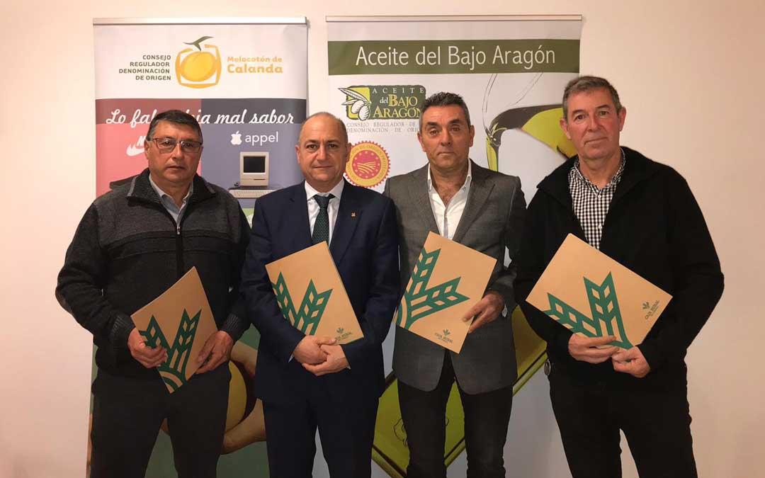 La firma de los convenios tuvo lugar el jueves en la sede de Caja Rural de Teruel en Alcañiz