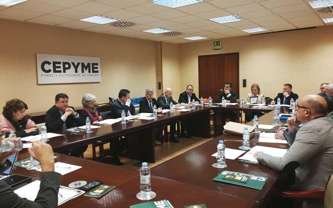Reunión del consejo de Cepyme Aragón este viernes