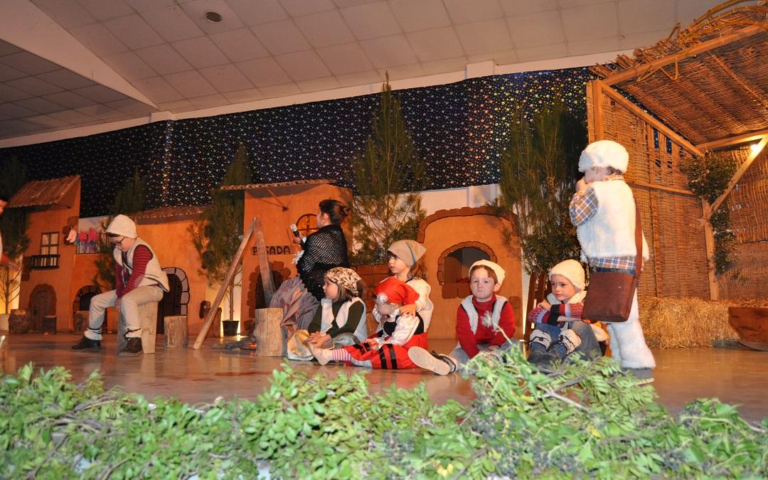 La representación tuvo lugar en el pabellón municipal de Cretas