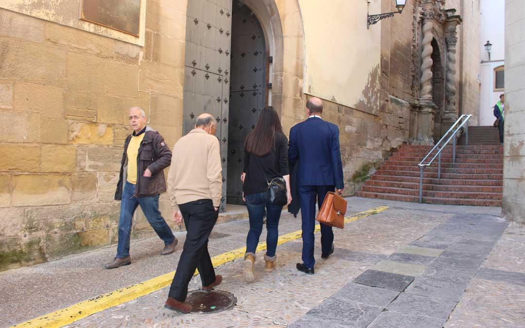 Foto de archivo de las declaraciones en el Juzgado de Alcañiz