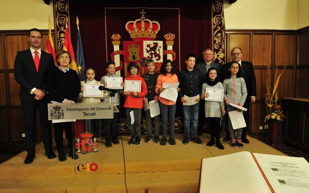 Morro tuvo unas palabras en recuerdo de los tres fallecidos durante el acto por el 40º aniversario de la Constitución en Teruel