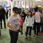 Muchos jóvenes probaron por primera vez la realidad virtual, una de las novedades de esta edición