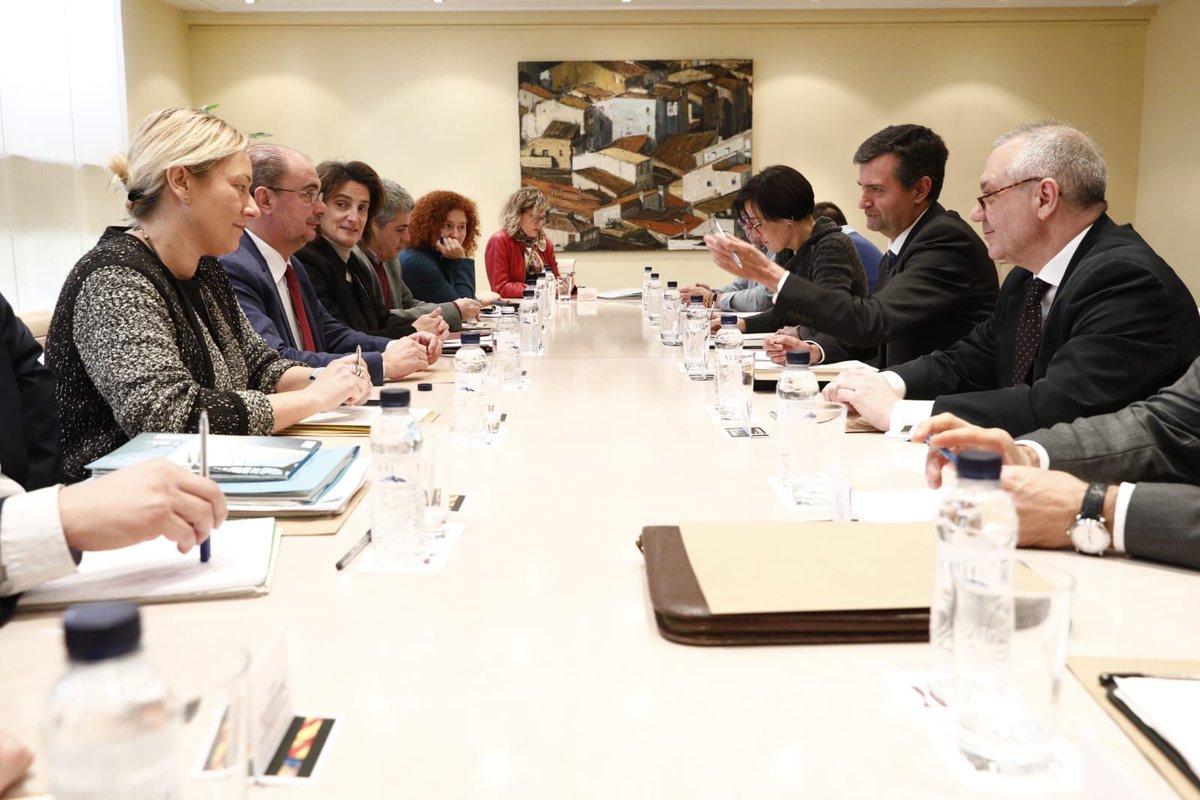 Reunión de trabajo este lunes entre Lambán y Ribera junto a otros altos cargos de DGA y el Ministerio además de alcaldes y agentes sindicales y económicos por la Térmica