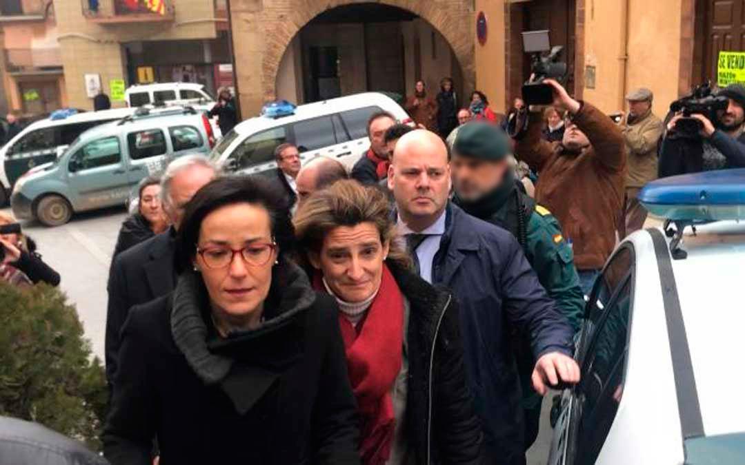 La ministra ribera llegando a Andorra