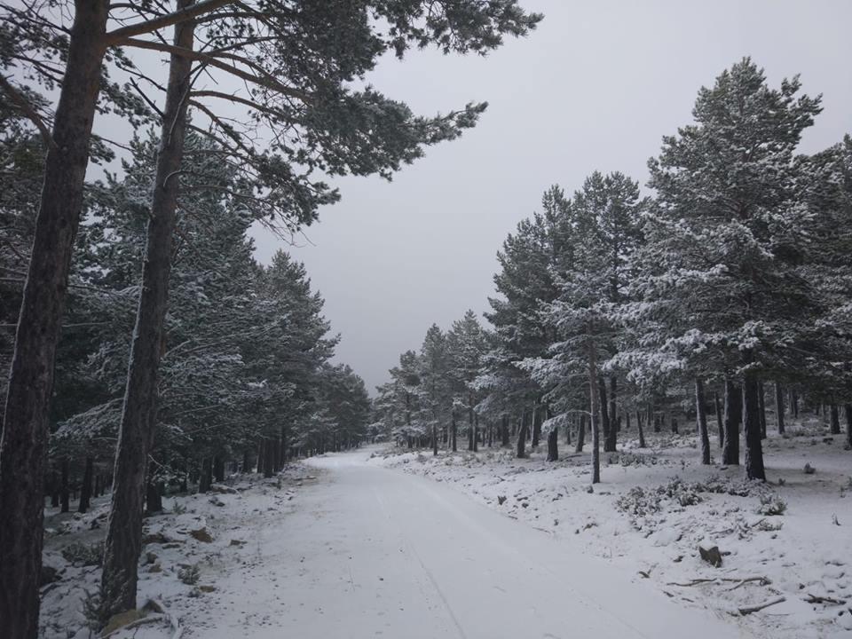 Las nevadas llegaron el domingo a varios puntos del territorio como al Maestrazgo. Foto: Turismo Cantavieja