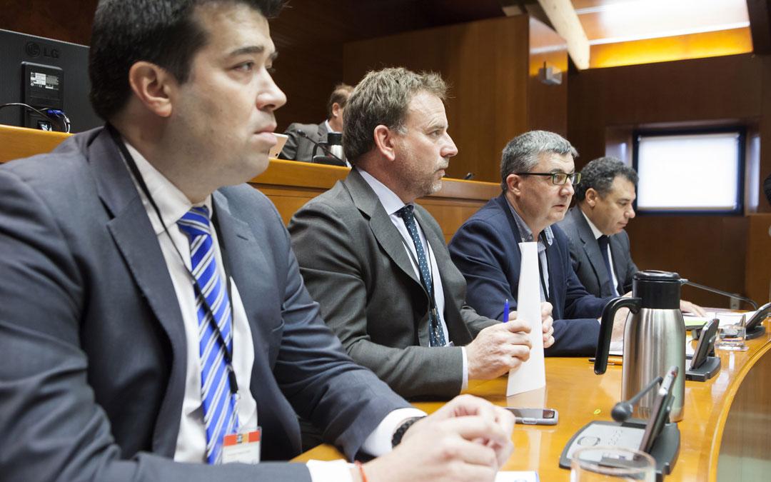 Los representantes de los sectores estratégicos de Aragón comparecieron ayer en la sesión de la comisión especial por el futuro de Andorra