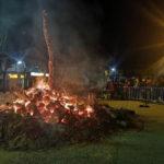 Fuego la noche del sabado en fayon