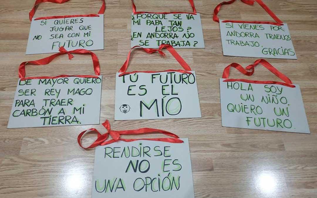 Los niños encabezarán la manifestación de Andorra por el futuro de la provincia de Teruel